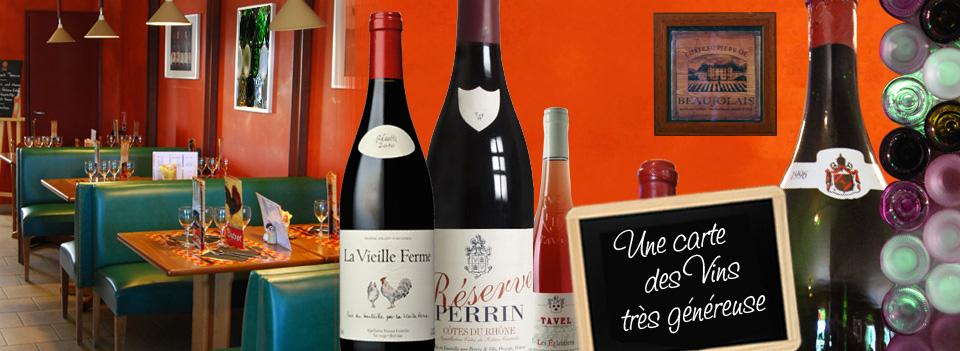 Une belle carte de vins du Vaucluse